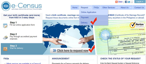e-Census website