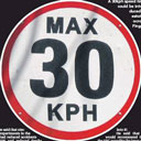 30 kph Speed Limit sign