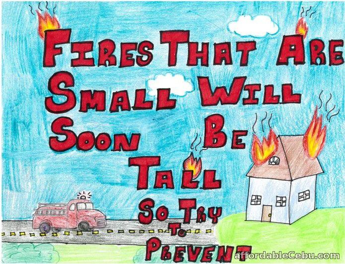 list of fire prevention  safety posters and drawings