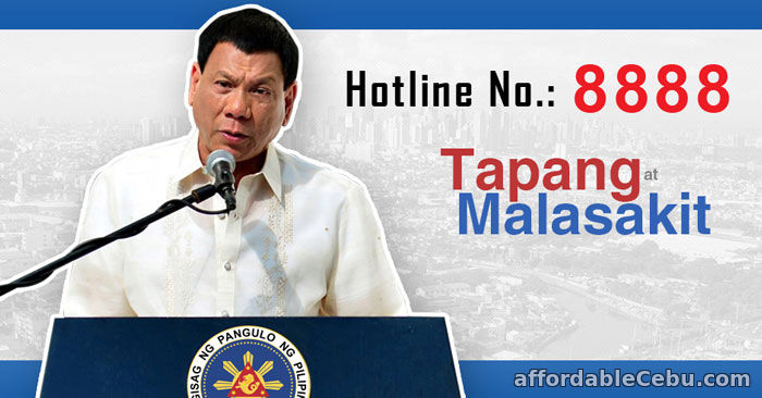 President Rodrigo Duterte Hotline Phone Number