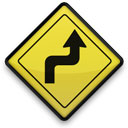 Road Bends Sign