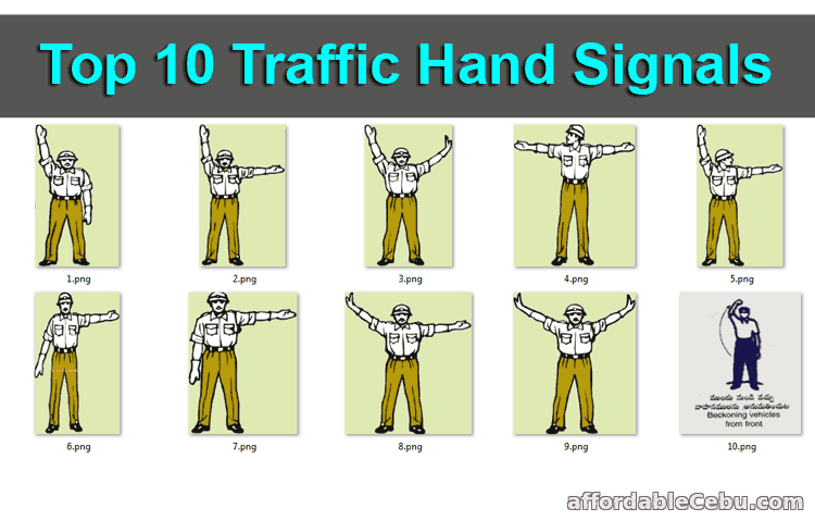 Top 10 Traffic Hand Signals