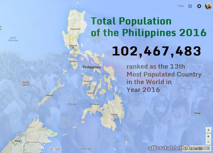 Total Population of the Philippines 2016