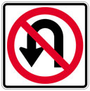 No U-Turn road traffic sign