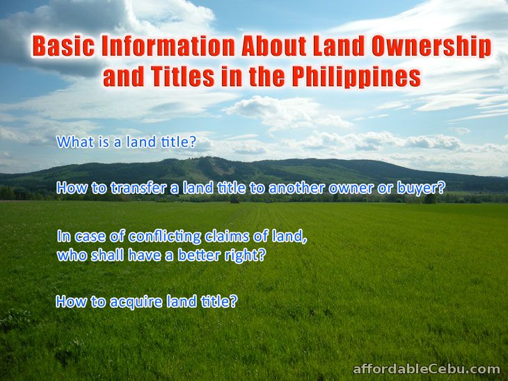 Land Ownership and Titles in Philippines
