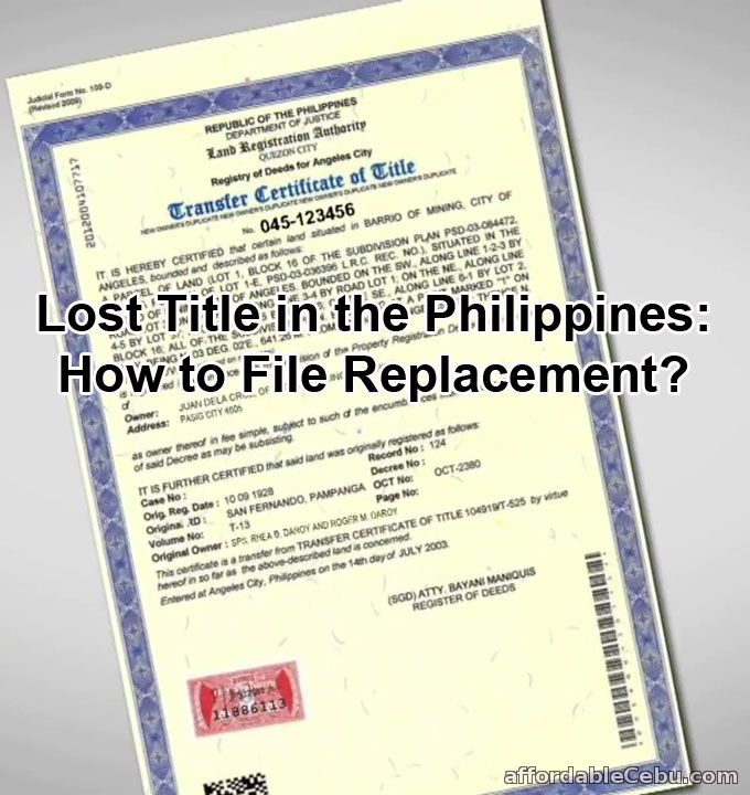 Lost Land Title in Philippines