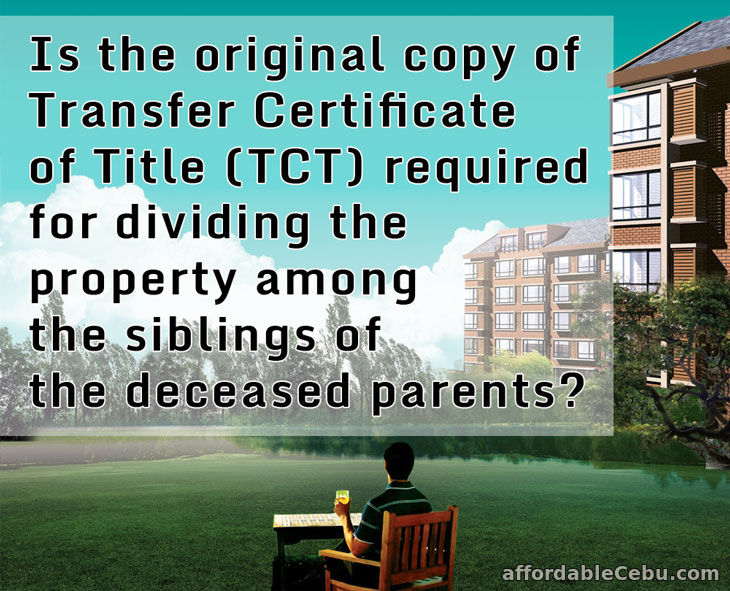 Is the Original Land Title Required for Dividing Property?