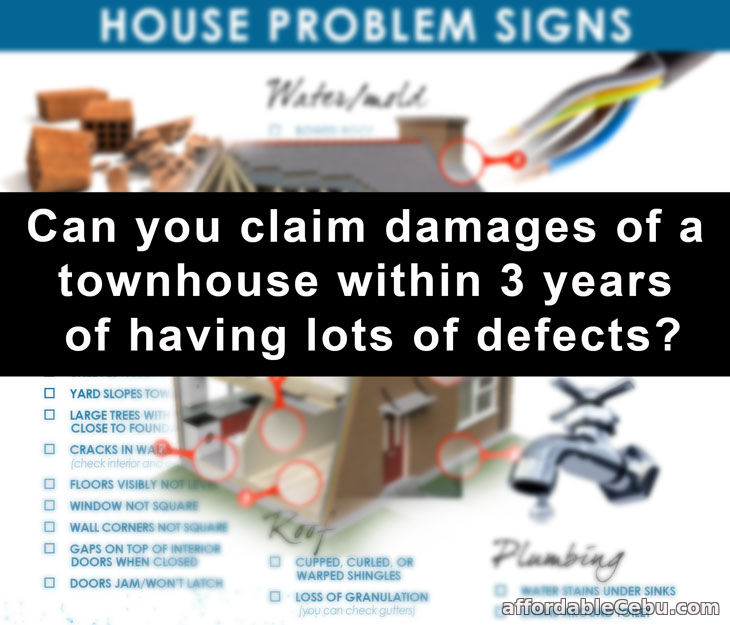 Claim damages of house with defects