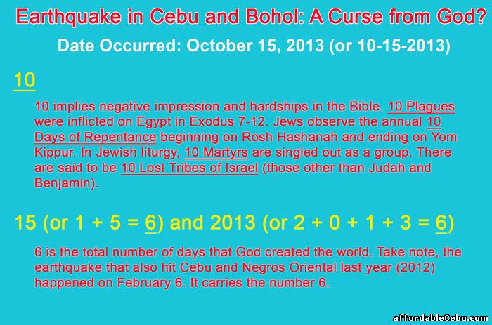Earthquake in Cebu Bohol Meaning