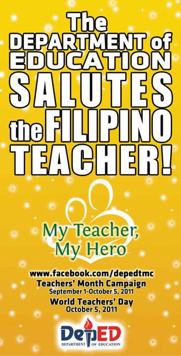 2011 Teachers Month Campaign And World Teachers Day
