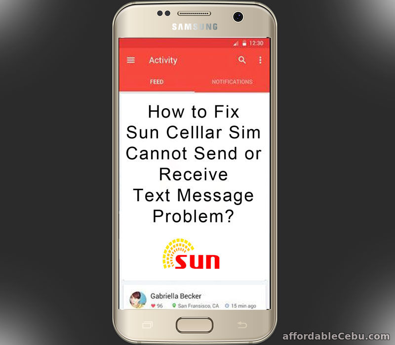 Fix Sun Cellular Cannot Send Receive Text Message Problem