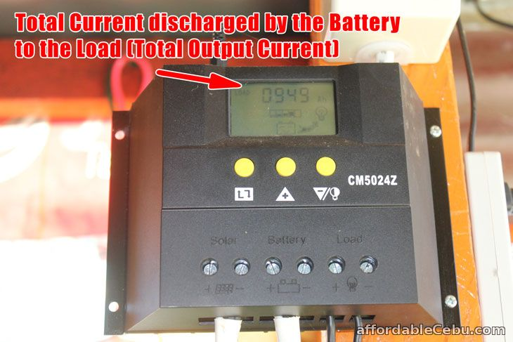 Total Output Current Discharged Solar Charger Controller