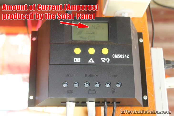 Current Reading of Solar Charger Controller