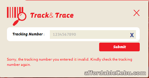 LBC invalid tracking number