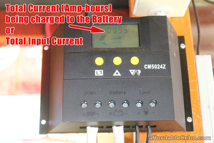 Total current charged Solar Charger Controller