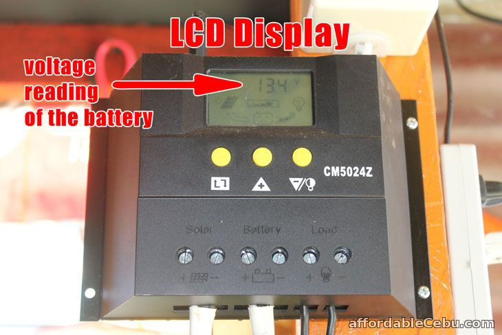 Voltage Reading Solar Charger Controller