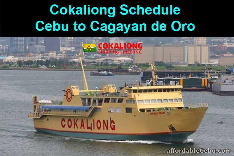 Cokaliong Schedule Cebu to Cagayan de Oro