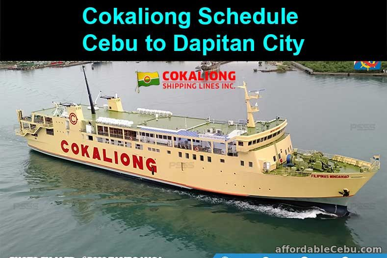 Cokaliong Schedule Cebu to Dapitan City