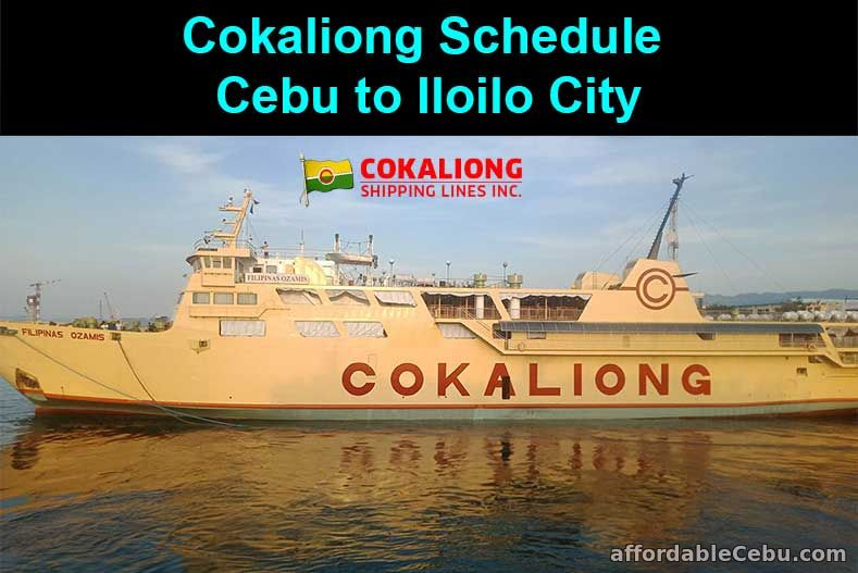 Cokaliong Schedule Cebu to Iloilo City