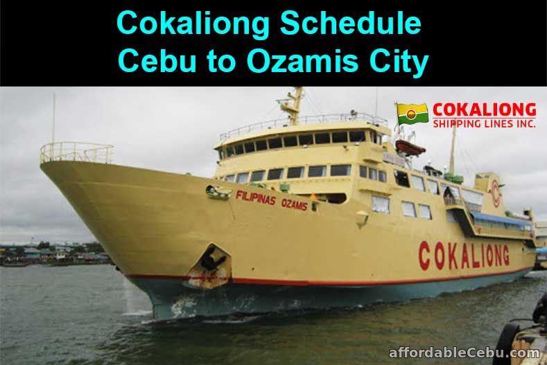 Cokaliong Schedule Cebu to Ozamis City