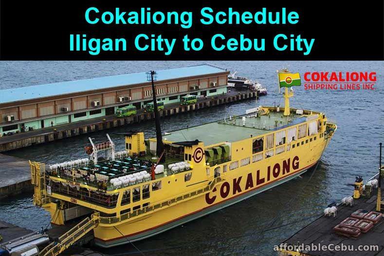 Cokaliong Schedule Iligan City to Cebu City