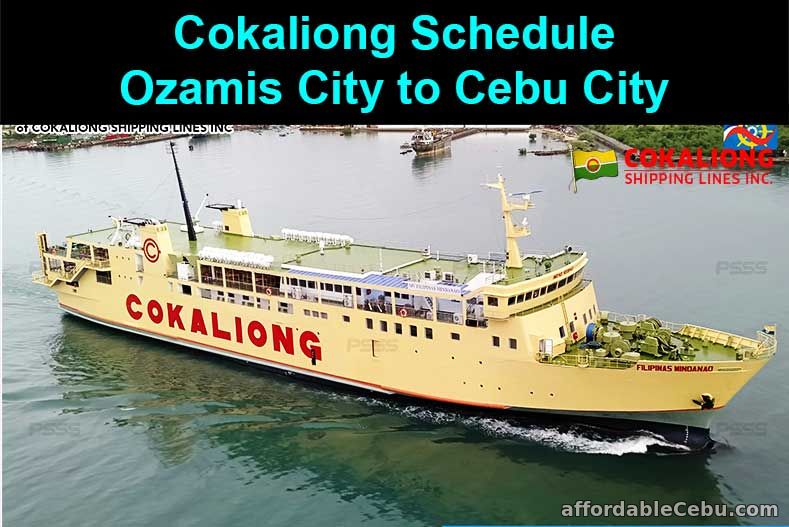 Cokaliong Schedule Ozamis City to Cebu City
