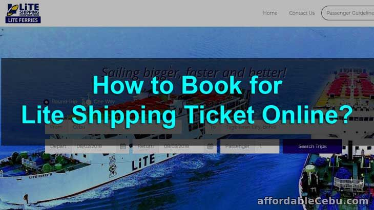 How to Book for Lite Shipping Ticket Online?