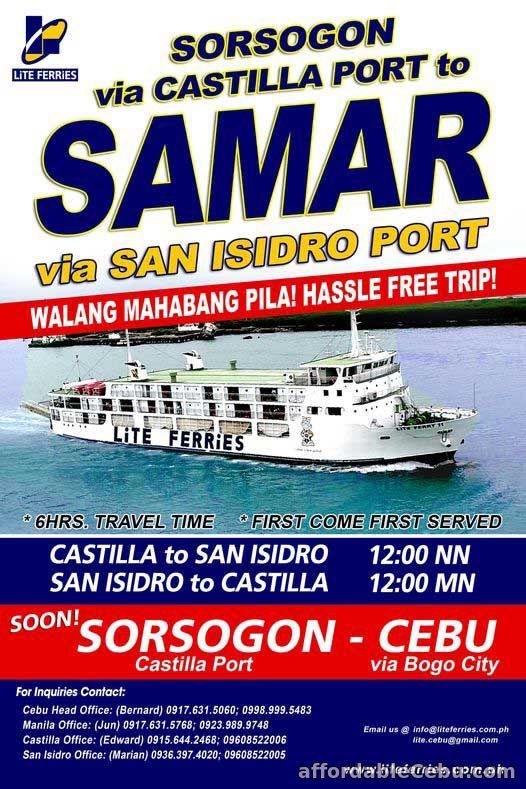Lite Shipping Schedule Sorsogon to Samar
