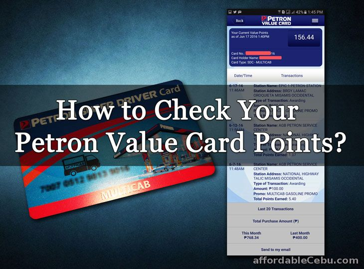 Check Petron Value Card Points