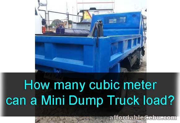 Cubic meter a Mini Dump Truck can load