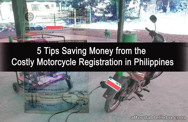 Tips in Savings Money from Costly Motorcycle Registration in Philippines