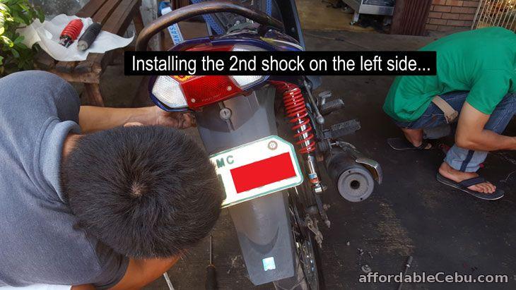 Installing motorcycle shock